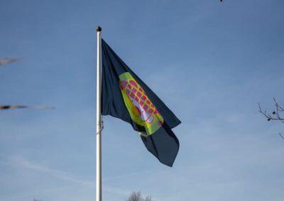 2019-02-17 Brandeliers vlaggen rotonde Mierlo Hout Theunis van der Meulen