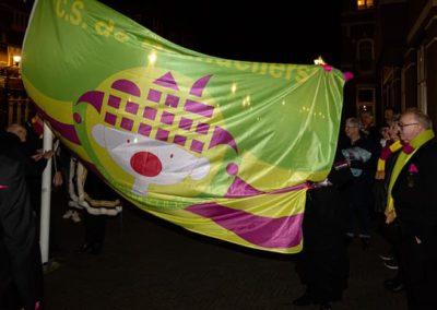 2020-2-14 Brandeliers vlag hijsen Theunis van der Meulen